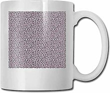 Porzellan-Tasse mit Leopardenmuster, rosa und