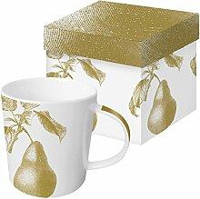Porzellan Tasse Trend Mug Engraved Pear gold