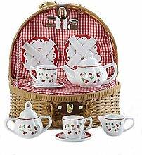 Porzellan Tee-Set/Korb, Cherry
