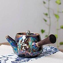 Porzellan Teekanne Keramik Teekanne blau weiß