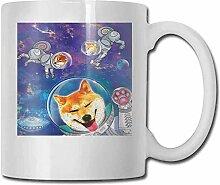 Porzellan-Teetasse mit Hundemotiv, Cartoonischer