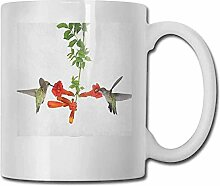 Porzellan-Teetasse mit Kolibri-Motiv,