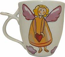 Porzellan Teetasse mit Schutzengel Motiv (mit