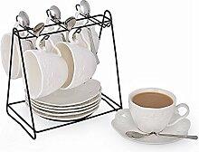Porzellan Teetasse und Untertasse Kaffeetassen Set
