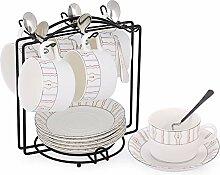Porzellan Teetasse und Untertasse Set Kaffeetasse