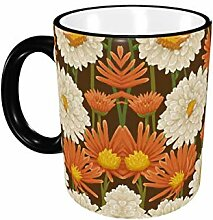 Porzellan Trinkbecher Art Flower Ceramic Coffee