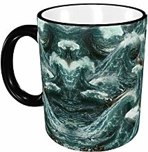 Porzellan Trinkbecher Art Sea Wave Keramik Kaffee