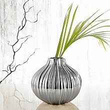 Porzellan Vase Galvanisch, Purelifestyle, GYP047, Blumenvase Tischdeko Hochzeitsdeko Höhe 19,5 cm Dekoration für Zuhause