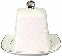 Porzellan WeiB Butterbehalter Keramik,Butterdose