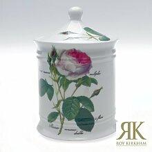 Porzellandose Cotton Jar Redoute Rose Roy Kirkham 15cm