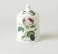 Porzellandose Cotton Jar Redoute Rose Roy Kirkham
