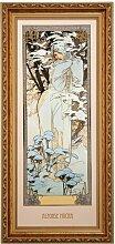 Porzellangemälde Winter 1900 Goebel