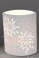 Porzellanlampe oval Tisch- & Nachttischlampe mit