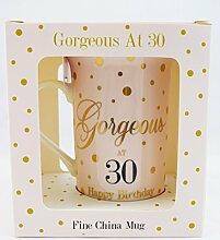 Porzellantasse zum 30. Geburtstag, Geschenkidee