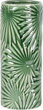 Porzellanvase, mit grünem Blattmotiv H27