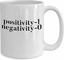 Positivität gewinnt Kaffeetasse Muttertag