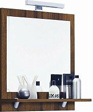 Posseik Moebel Badspiegel mit Holzablage und