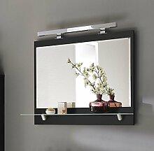 Posseik Moebel Badspiegel mit Michglas-Ablage und