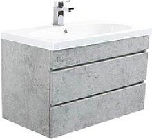 POSSEIK Waschtischunterschrank   beton/beton