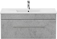 POSSEIK Waschtischunterschrank VIVA beton/weiß