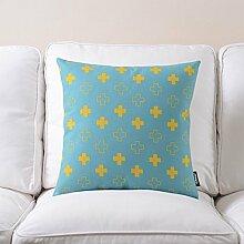 Post Road Flower Series Baumwolle Hanf Kissen Kissen Frische amerikanische landwirtschaftliche Sofa Kopfkissen Große ( farbe : # 2 )