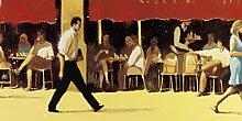 Poster 50x 100cm Terrasse Café Bar Jean Marie Droue