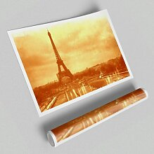 Poster Altes Bild vom Eiffelturm Retro East Urban