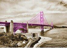 Poster Around The World San Francisco Bridge,