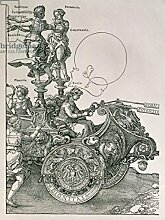 "Poster-Bild 20 x 30 cm: ""Design for The Great Triumphal Chariot of Emperor Maximilian I: detail showing the Virtues steering the team of horses, planned by Willibald Pirckheimer, pub. c.1518 (see also 77582)"", Bild auf Poster"