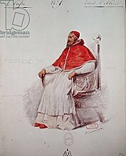 "Poster-Bild 60 x 80 cm: """"Costume design for the Pope Clement VII in Benvenuto Cellini by Hector Berlioz (1803-69) 1838 (wash on paper)"""", Bild auf Poster"