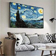 Poster Bild Impressionist Van Gogh Sternennacht