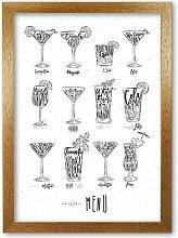 Poster Cocktails Menu East Urban Home Format: