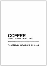 Poster Coffee Attitude East Urban Home Format: