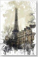 Poster Eiffelturm bei Nebel Paris Frankreich East