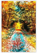 Poster Endloser deutscher Herbstwald Big Box Art