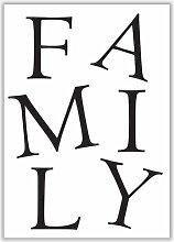 Poster Family East Urban Home Format: Kein Rahmen,