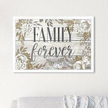 Poster Family Forever East Urban Home Format: