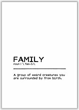 Poster Family Weird East Urban Home Format: Kein