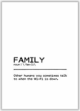 Poster Family Wifi East Urban Home Format: Kein