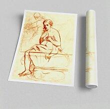 Poster Frauen bei der Toilette von Edouard Manet