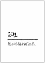 Poster Gin Forget East Urban Home Format: Kein