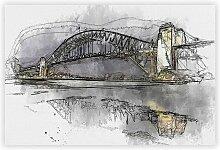 Poster Harbour Bridge in Sydney, Australien Big