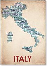 Poster Italy, Grafikdruck