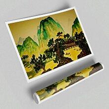 Poster Japanische Bonsai-Gärten East Urban Home