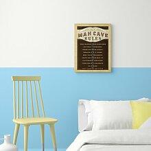 "Poster ""Man Cave Rules"" von Anderson Design"