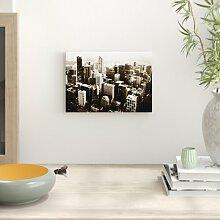 Poster Melbourne City Skyline Australien,