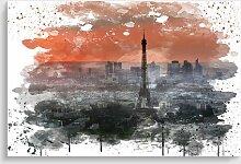 Poster Paris Eiffelturm Sonnenuntergang 17 Stories
