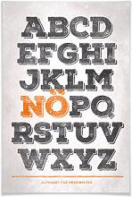 Poster - Poster Alphabet für Pessimisten