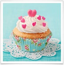 Poster - Poster Hearts on Cupcake