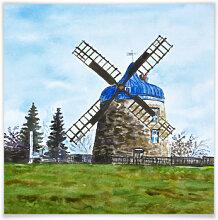 Poster - Poster Toetzke - Traditionelle Windmühle - quadratisch